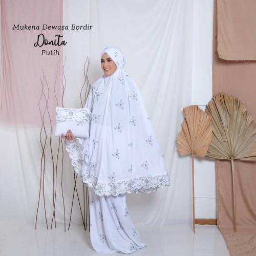 Foto Produk MUKENA DEWASA BORDIR DONITA PUTIH dari Pusat Mukena Indonesia