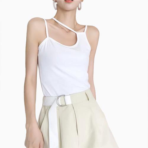 Foto Produk Tanktop Singlet Tali kecil Wanita Gaya Korea - Jfashion Loli - Putih, L dari j--fashion