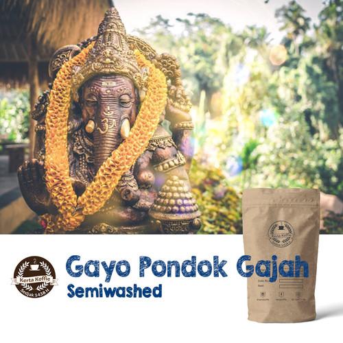 Foto Produk Kopi Arabica Gayo Pondok Gajah Semiwash 200gr dari Kerta Koffie Roastery