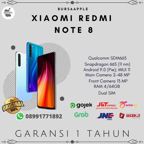 Foto Produk Xiaomi Redmi Note 8 4/64 RAM 4GB ROM 64GB Garansi Resmi - Hitam dari BursaApple