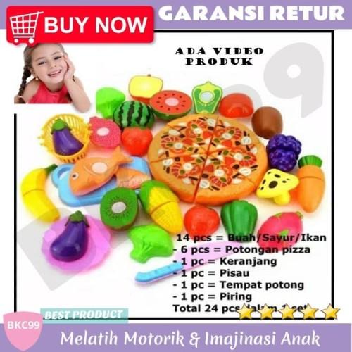 Foto Produk Mainan Anak Potong Sayur Buah Pizza 24pcs   Masak Masakan   Kado Ultah dari BKC99