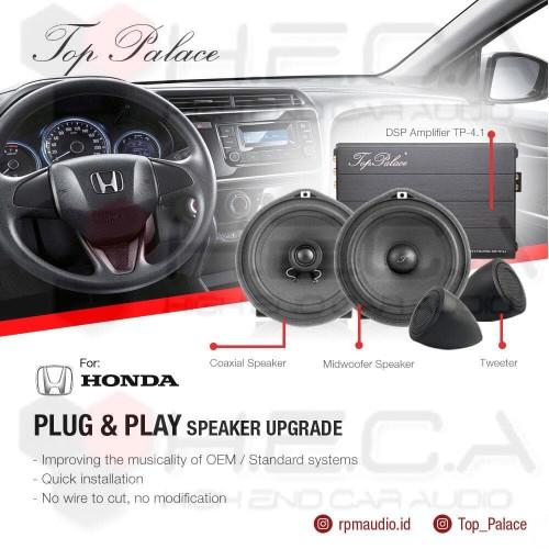 Foto Produk TOP PALACE Paket Audio Lengkap HONDA DSP + Speaker Split + Coaxial dari High End Car Audio
