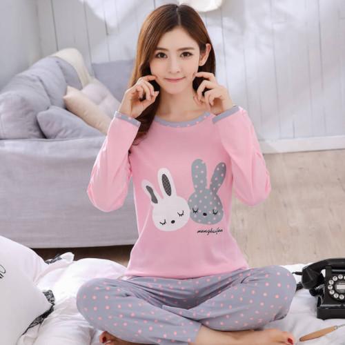 Foto Produk Baju Tidur Wanita Piyama Pejamas double Bunny JE238-3 Import dari BEBE
