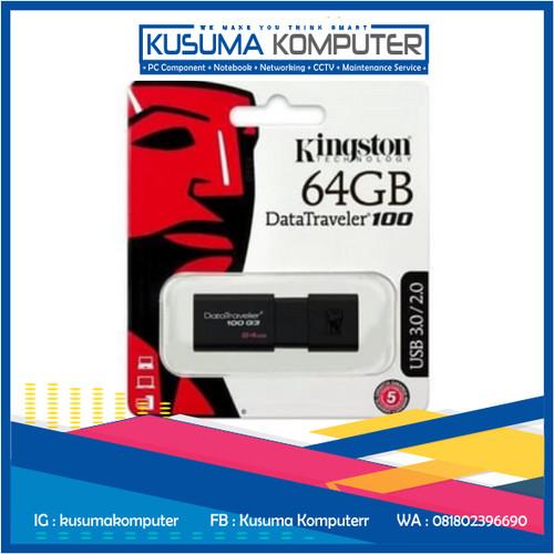 Foto Produk Flashdisk Kingston DataTraveler Generation 3 DT100G3- 64GB dari kusumakomputer