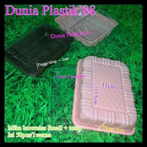 Foto Produk Banting Harga Isi 50Pc Mika Brownies Small Box Kotak Plastik Hitam dari KaseyTorres
