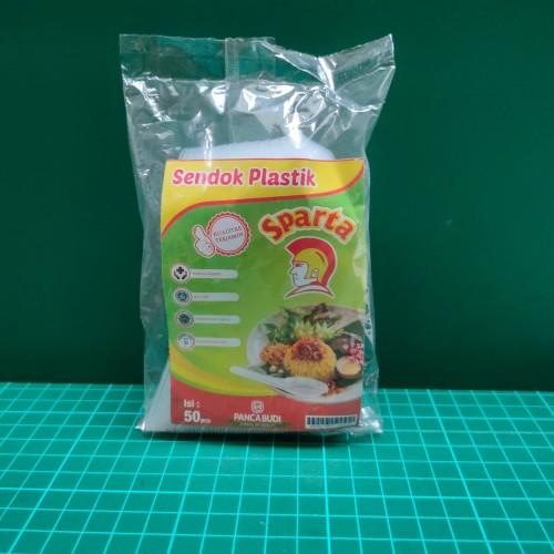 Foto Produk Sendok Bebek Bening Sparta Isi 50pcs dari Abun Aneka Plastik