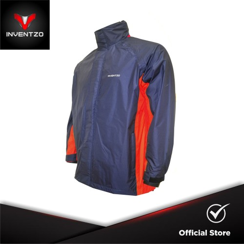 Foto Produk INVENTZO STORMRIDER Beta - Jaket Waterproof Pria - Navy Red - Large dari INVENTZO