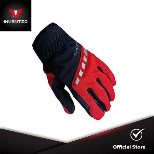 Foto Produk INVENTZO Torino Red Black - Sarung Tangan Motor Sensitive Touch Pria - M dari INVENTZO