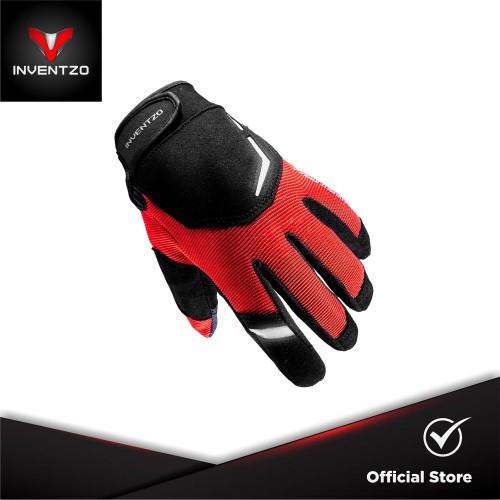 Foto Produk INVENTZO Tornado Red - Sarung Tangan Motor Sensitive Touch Tip - Medium dari INVENTZO
