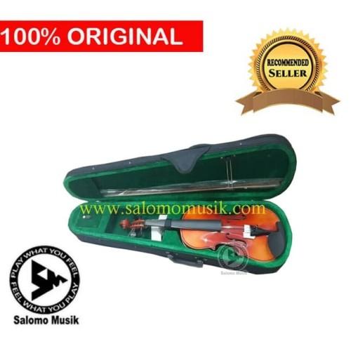 Foto Produk biola violin vienna solid wood 1/4 1/2 3/4 4/4 dari Salomo Musik