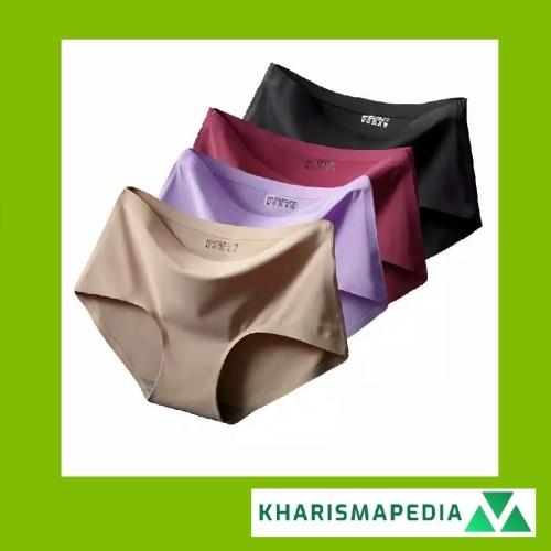 Foto Produk Celana Dalam Seamless Underpants Wanita Sutra Mulus Dingin Menstruasi - BLACK L dari Kharisma Auto Care