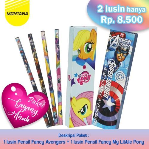 Foto Produk PAKET FANCY PENCIL!!! 1Lusin Pencil Avengers + 1Lusin Pencil Pony dari MONTANA ID