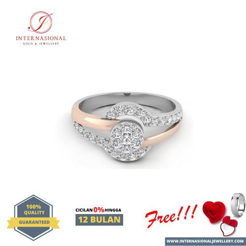 Foto Produk cincin berlian eropa FVVS mewah Diamond ring elegan Gold Original324 dari Internasional Jewellery