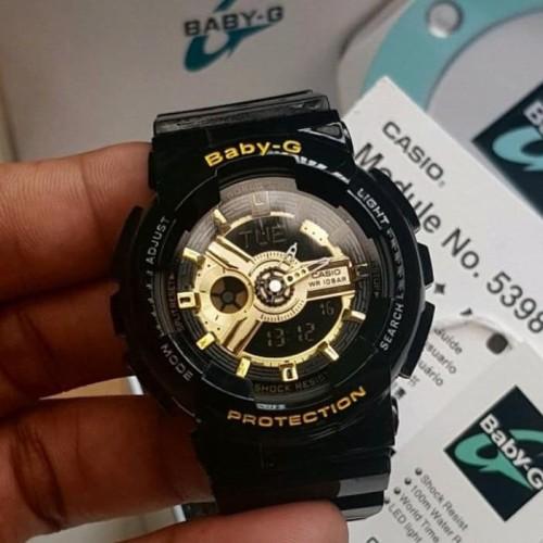 Foto Produk Jam Tangan Wanita Merk Casio Baby G BA-110 Black ORI BM FullSet dari GoldenTime888