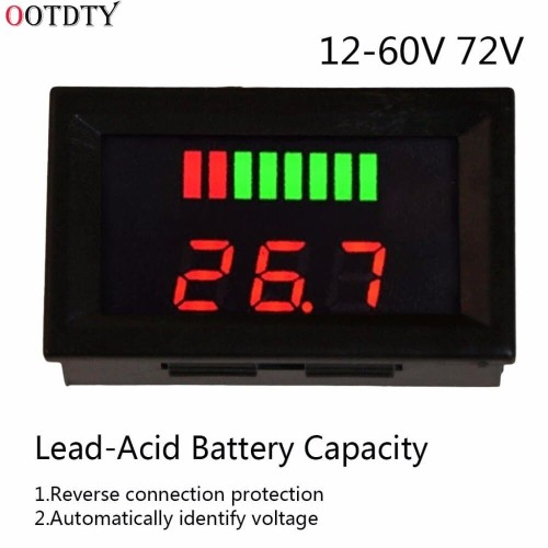 Foto Produk Battery Capacity Indicator Charge Tester Voltmeter Digital DC 12V-72V dari lapakdiskon