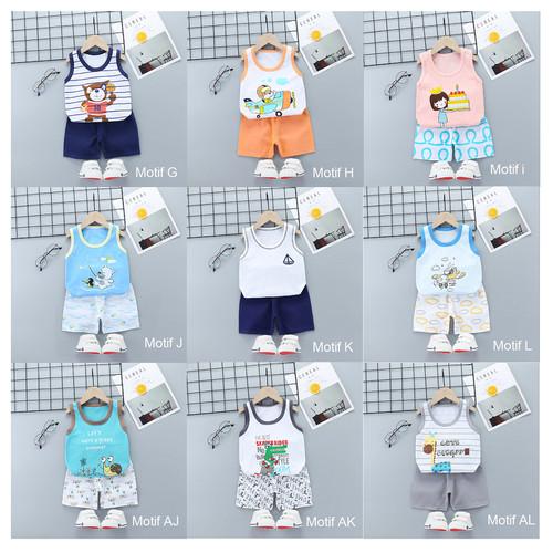 Foto Produk Oblong Singlet Bayi Anak / Kaos Dalam Bayi / Setelan Bayi Lucu - Motif L dari M&K ( Mom & Kids)