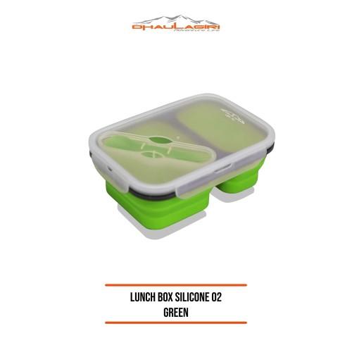 Foto Produk DHAULAGIRI LUNCH BOX SILICONE DH 02 GREEN Tempat Makan Silicon dari Dhaulagiri official