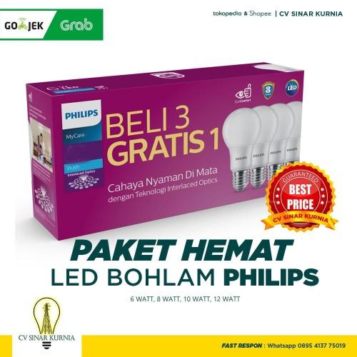 Foto Produk Lampu Bohlam LED Philips 12Watt, 12W, 12 Watt, 12 W (1 paket isi 4) dari CV SINAR KURNIA