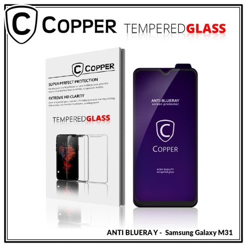 Foto Produk Samsung Galaxy M31 - COPPER Tempered Glass FULL BLUE RAY dari Copper Indonesia