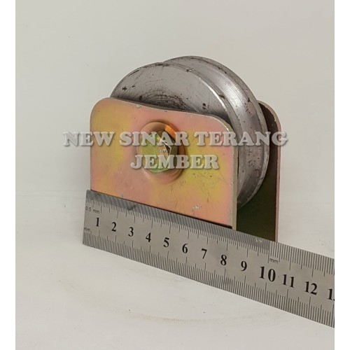 Foto Produk Roda Pagar 8 cm Bulat Besi Bubut dari New Sinar Terang