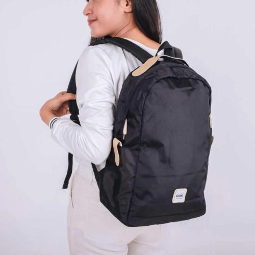 Foto Produk Maja Series black Tas Ransel Wanita Backpack Multifungsi Simple Dan dari Tuskbagofficial