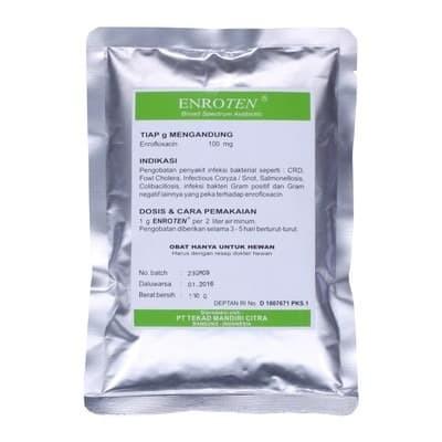 Foto Produk Obat hewan ENROTEN 100gr cocok untuk pernafasan hewan dari vetma pet and poultry
