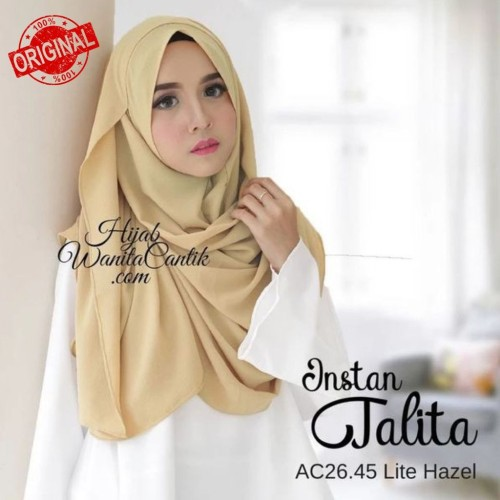 Foto Produk Hijabwanitacantik ORI   Instan Talita AC26.45 Lite Hazel ORIGINAL   dari MITRA TIGA