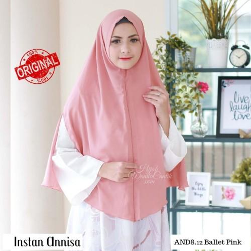 Foto Produk Hijabwanitacantik ORI Khimar Instan Annisa ORIGINAL   Hijab Instan   dari MITRA TIGA