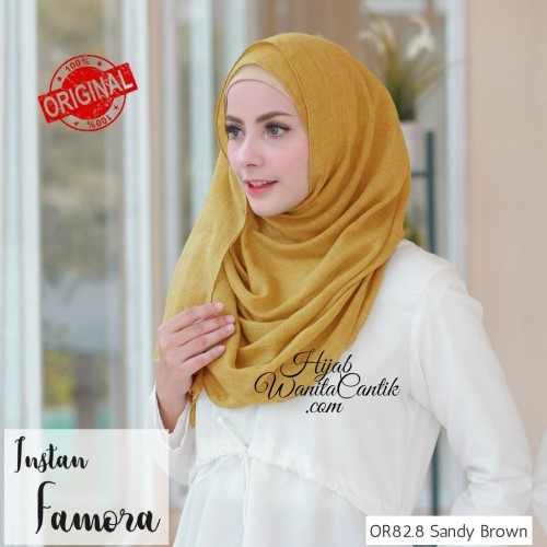 Foto Produk Hijabwanitacantik ORI | Pashmina Instan Famora OR82.8 Sandy Brown dari MITRA TIGA