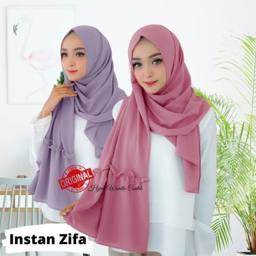 Foto Produk Hijabwanitacantik ORI Pashmina Instan Zifa ORIGINAL | Hijab Instan | dari MITRA TIGA