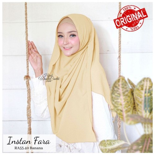 Foto Produk Hijabwanitacantik ORI  Pashmina Instan Fara RA53.40 Banana ORIGINAL   dari MITRA TIGA