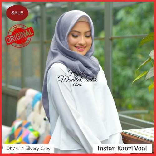 Foto Produk Hijabwanitacantik ORI   DEFECT SALE Instan Kaori OK74.14 Silvery Grey dari MITRA TIGA