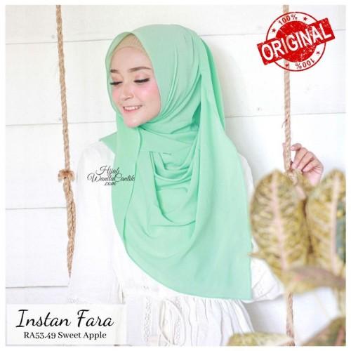 Foto Produk Hijabwanitacantik ORI | Pashmina Instan Fara RA53.49 Sweet Apple dari MITRA TIGA