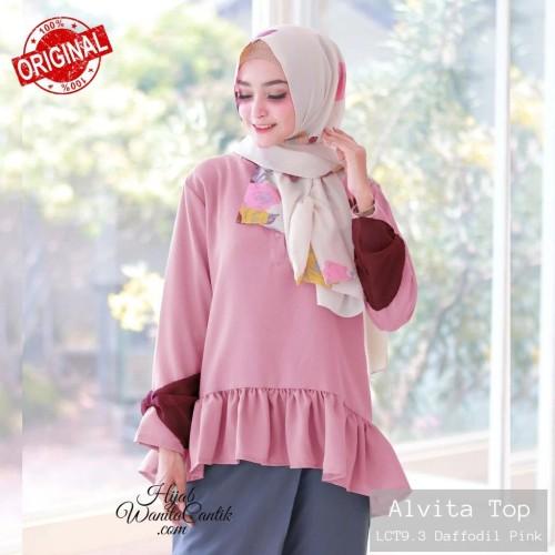 Foto Produk Hijabwanitacantik ORI Alvita Top ORIGINAL   Atasan Wanita dari MITRA TIGA