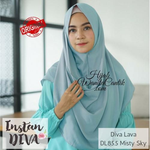 Foto Produk Hijabwanitacantik ORI | Pashmina Instan Diva Lava DL85.5 Misty Sky dari MITRA TIGA