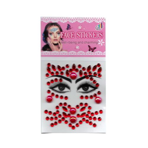 Foto Produk Stiker Wajah Mainan Make Up Anak Face Sticker - Merah dari Grandia Shop