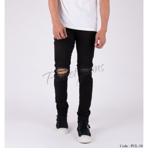 Foto Produk Celana jeans pria ripped sobek / robek lutut model skinny / pensil dari Planet Jeans