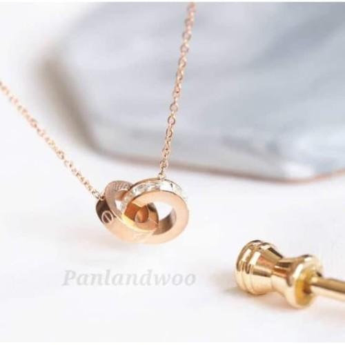 Foto Produk Kalung Titanium Stainless Steel Panlandwoo Fashion Wanita - Promise dari Panlandwoo