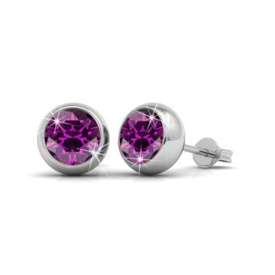 Foto Produk Aurora Moon Earrings - Anting Crystal by Her Jewellery - Amethyst dari Her Jewellery
