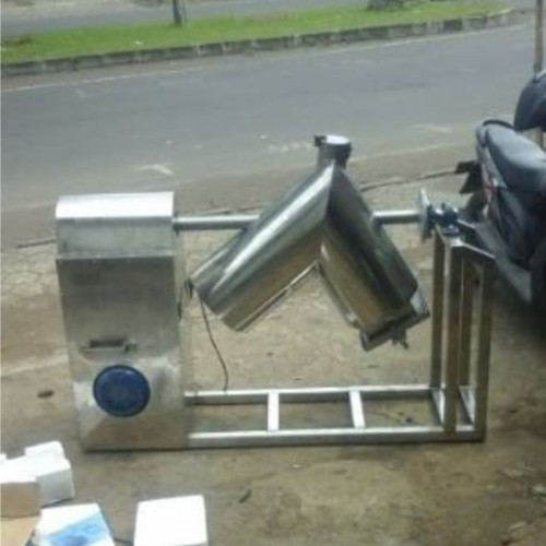 Foto Produk mesin mixer aduk campur bubuk powder tepung model tabung V kap 50kg dari yash mesin