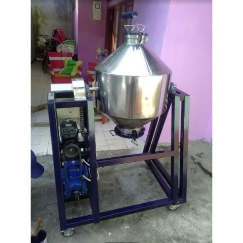 Foto Produk mesin mixer aduk campur bubuk powder tepung model double cone kap 50kg dari yash mesin