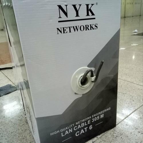 Foto Produk Kabel LAN UTP Cat 6 Murah 1 Roll Cat6 abu-abu dari Oktha Store