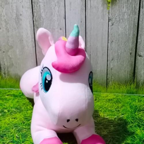 Foto Produk Boneka Unicorn pink Lying dari Happy Toy's