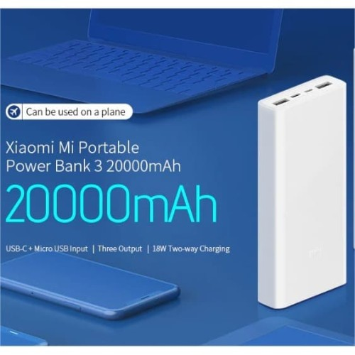 Foto Produk Xiaomi Powerbank MI2C 20000mAh Mi Power Bank 20000 mAh PLM06ZM dari GADVENTIA Official Store