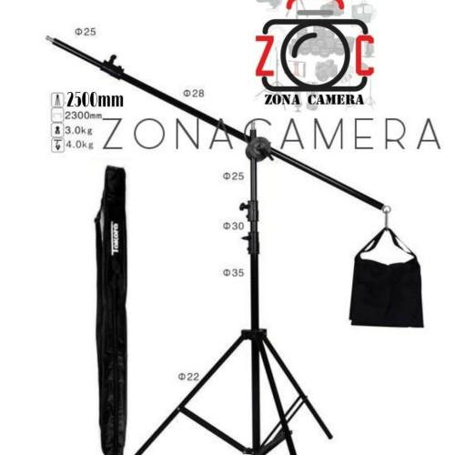 Foto Produk Takara Boom Stand 180 Set Arm Kit Komplit High Light Kaki Bom Lighting dari zona camera