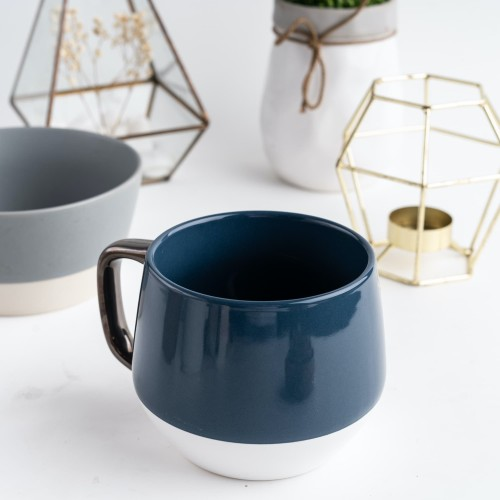 Foto Produk UCHII MARUMAGU Ceramic Mug Large 18oz Gelas Minum Keramik Cafe Concept - Biru dari uchii store