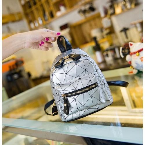 Foto Produk JT6227-silver Tas Mini Ransel Lucu Stylish Terbaru dari AlMirah Olshop