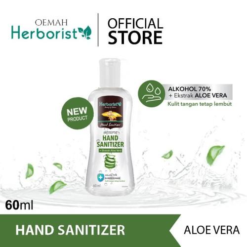 Foto Produk Herborist Hand Sanitizer Gel Pembersih Tangan Aloe Vera - 60ml dari Oemah Herborist