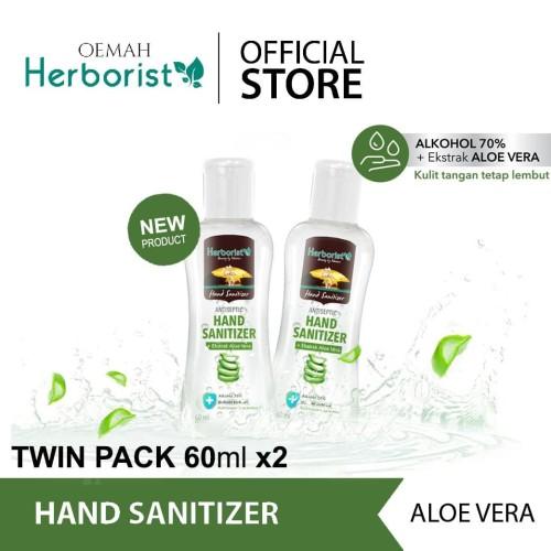 Foto Produk Herborist Hand Sanitizer Gel Pembersih Tangan Aloe Vera - 60ml 2pcs dari Oemah Herborist