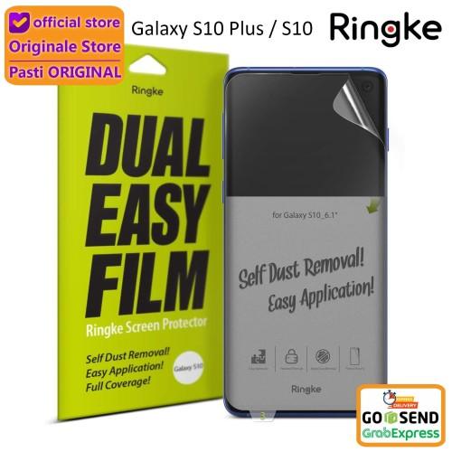 Foto Produk Screen Protector Galaxy S10 Plus / S10 / S10e Ringke Dual Easy Film - S10 Plus dari Originale Store